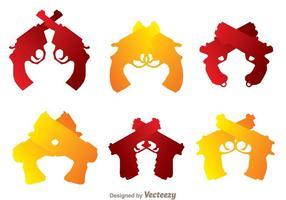 Korsade handvapen ikoner