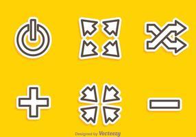 Media Player Umriss Symbole