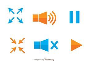 Video Player Werkzeug Icons vektor