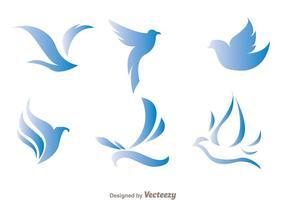 Blå Fågel Logo Vektorer