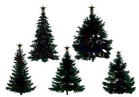 Weihnachtsbaum Silhouette Vektoren