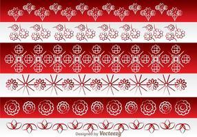 Asiatiska Blommor Border Ornament vektor