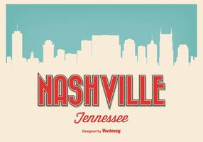 Retro stil Nashville Tennessee illustration vektor