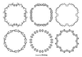 Nette Hand gezeichnete Art-dekorativer Rahmen-Satz