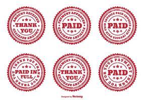 Distressed diverse betalda märken