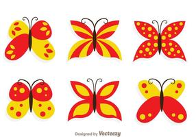 Schmetterlings-Sammelset vektor