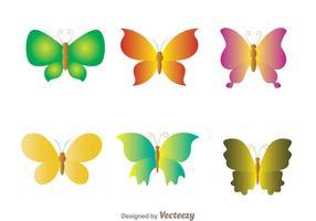 Butterfly Ikoner Set vektor