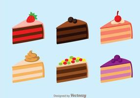 Kuchen Scheibe isoliert vektor