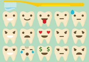 Zahn Emoticon Vektoren