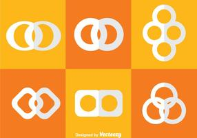Oändliga Loop White Icons