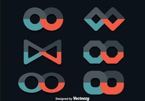 Unendliche flache Icons vektor