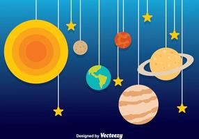 Planet dekorationsvektor