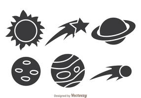 Raum Icons vektor