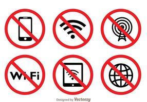 Blockerat Wifi-symbol vektor