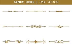 Dekorativa Fancy Lines Free Vector