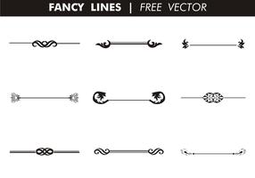 Dekorative Fancy Zeilen Free Vector
