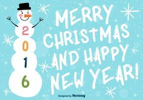 Frohe Weihnachten und guten Hintergrund des neuen Jahres vektor