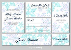 Hochzeitseinladungskarten vektor