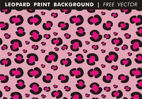 Girly Leopard Druck Hintergrund Freier Vektor