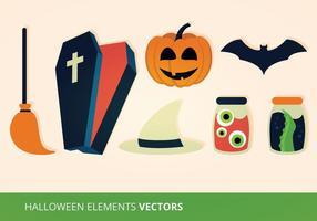 Halloween-Elemente Vektor-Illustration