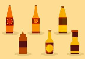 Såsflaskor vektor