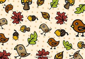Herbst-Cartoon-Muster Vektor