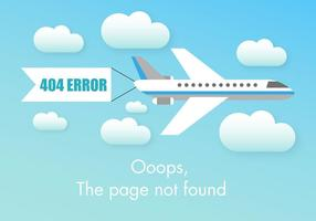 Free 404 Fehler Vektor