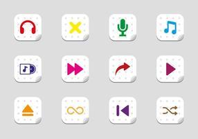Kostenlose Musik spielen Icons Vektor
