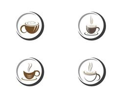 Kaffeetasse Logo Vorlage Set