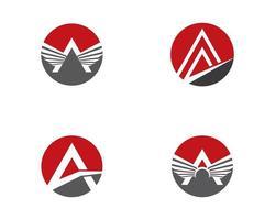 en bokstav cirkel logotyp Ikonuppsättning vektor