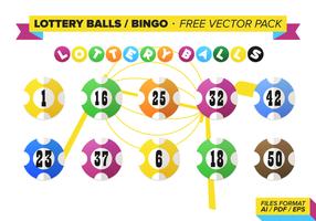 Lotterie Bälle Bingo Free Vector Pack