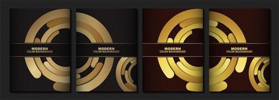moderne Abdeckung in Gold vektor