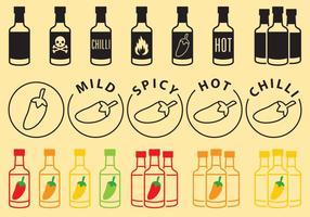 Sauce Flaschen Icons