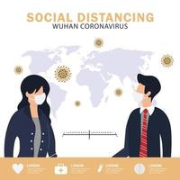 soziales distanzierendes Plakat