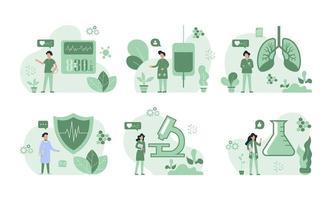sjukförsäkring infographic samling vektor