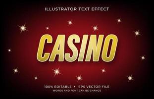 Casino-Schrifttext-Effekt vektor