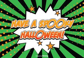 Komisk stil halloween illustration vektor