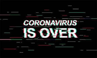Coronavirus ist über Licht Banner