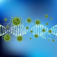 Viruszellen auf DNA-Strang