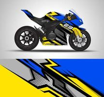 blauer und gelber Wickelaufkleber vektor