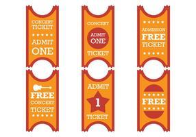 Altes rotes orange Ticket