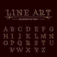 klassische Buchstaben vektor