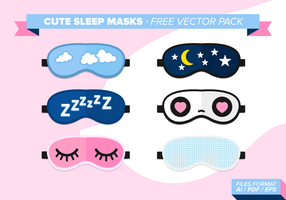 Nette Schlaf Masken Free Vector Pack