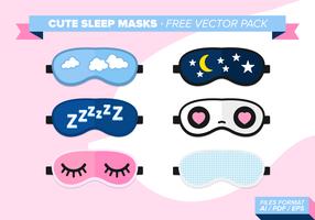 Söt sömnmasker Gratis Vector Pack