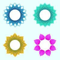 Blumenglas Luxus Hochzeitsrahmen Set vektor