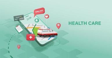 Gesundheitsversorgung auf dem Handy finden
