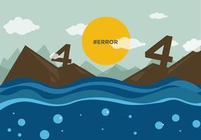 404 ej funnen vektor