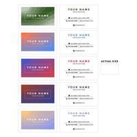 Farbverlauf und weißes Visitenkartenset