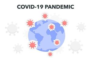 coronaviruselement över jorden