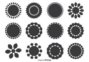 Verschiedene dekorative runde Form Set